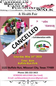 DHA/Caribbean Breast Cancer Foundation Walk & Health Fair [Event Cancelled]